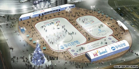 Holiday on ice: Seoul Plaza rink opens tonight | CNNGo.com
